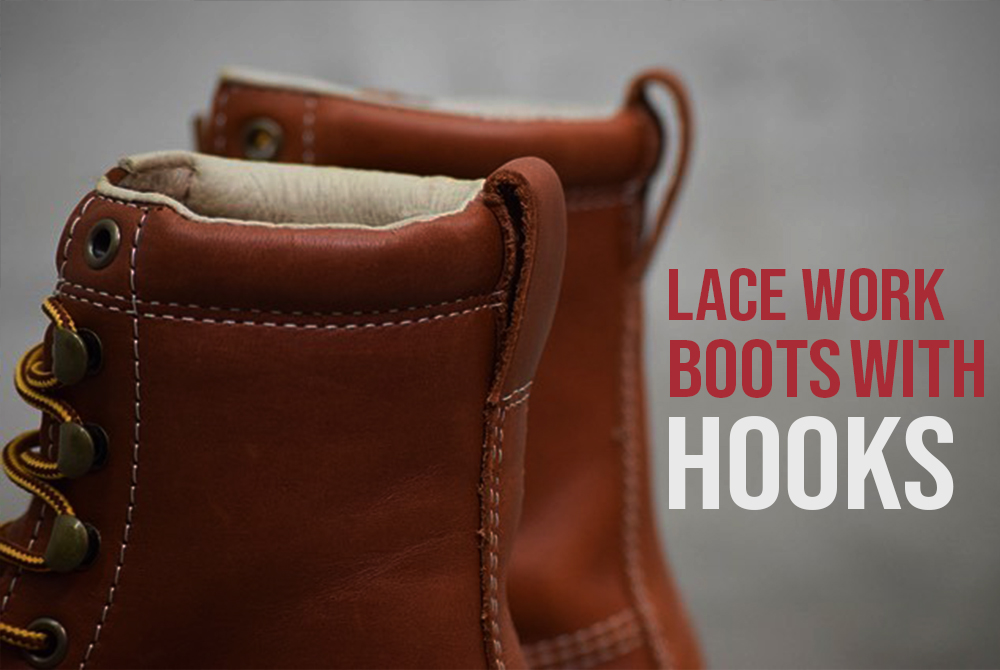 How to lace Work Boots with Hooks