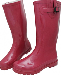 Sunville Women's Mid Calf Waterproof Rubber Garden Rainboot