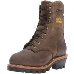 "Chippewa Men's 9"" Steel-Toe EH Logger Boot (protective logger boots)"